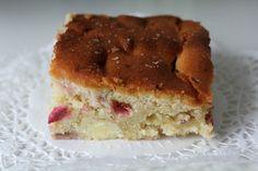 Sabrina's Køkken: Rabarber kage med hvid chokolade