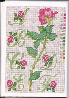 Alfabeto punto croce con le rose (1)