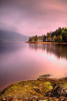 Rowardennan: the view northwards from Lochan Maoil Dhuinne on a calm morning.