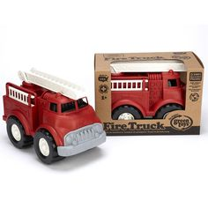 Brandweerauto gerecycled materiaal Green Toys Gerecycled speelgoed