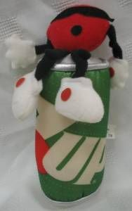 7 Up Spot Plush with 7-Up Can HAD THIS!! SPOT TURNS INTO THE CAN AND ZIPS UP