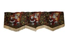 "Holiday Christmas Santa Claus Design 60"" X 15"" Window Valance >>> Continue to the product at the image link."