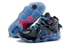 more photos 34d30 5ce76 Buy Cheap Nike Lebron 12 2015 DarkGreen Black Blue Mens Shoes, Price    95.00 - Air Jordan Shoes, Michael Jordan Shoes