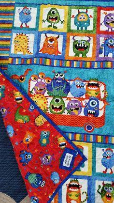 Monster Crib Bedding Monster Playmat Bright Colors Modern Monster Nursery Crib Bedding Whimsical Baby Shower New Baby Gift Playmat