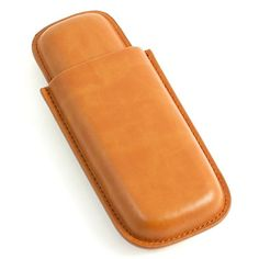 Leather Telescoping Double Cigar Case, B