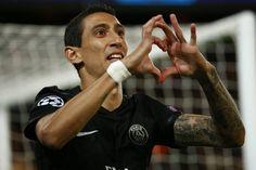 Angel Di Maria fist goal (PSG 2-0 Malmö) Paris Saint Germain, Champions League, Manchester United, Superstar, Soccer, Football, Goal, Hands, The League