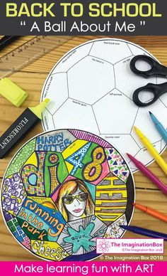Are you looking for an easy to set up, fun back to school art activity for kids? Kids love learning about each other through all about me activities - This 'Ball About Me' art activity is great for teachers to use in the classroom as a fun first day back getting to know you resource. The finished coloring pages make great displays for the classroom