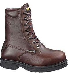 W01664 Wolverine Men's Met Guard Safety Boots - Chocolate
