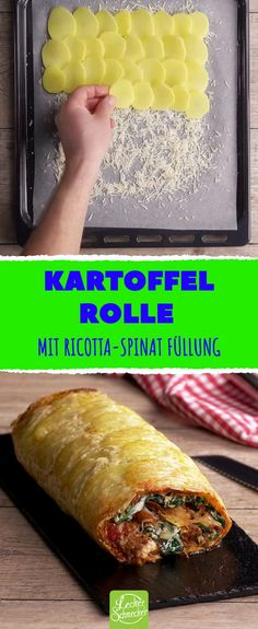 It looks like fried potatoes from the oven, but it won& - Delicious lunch: potato roll filled with minced meat, spinach and ricotta - Mexican Breakfast Recipes, Brunch Recipes, Easy Recipes For Beginners, Cheap Easy Meals, Carne Picada, Fried Potatoes, Oven Potatoes, Breakfast Casserole, Relleno