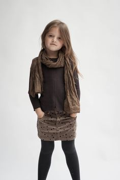 Scarf Sweater Babe Tess, Skirt Zef, Tights Louis Louise www.born2bseen.com