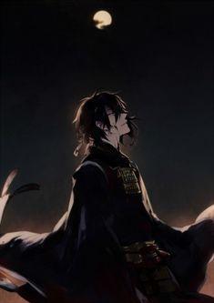 Tags: Anime, Pixiv Id 1499776, Touken Ranbu, Mikazuki Munechika, Black, Blood On Face
