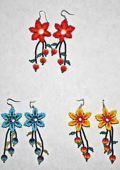flower ideas – New Ideas Seed Bead Earrings, Flower Earrings, Beaded Earrings, Seed Beads, Earrings Handmade, Dangle Earrings, Diamond Earrings, Native American Earrings, Native American Fashion