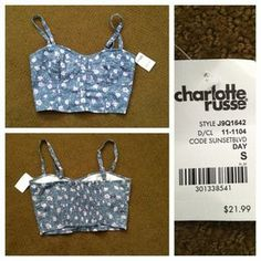 Charlotte Russe Tops - RESERVED Adorable Floral Bustier (Charlotte Russe)