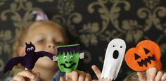 Get in the Halloween spirit and make these spooky finger puppets. With this simple DIY you can make a Frankenstein, bat, ghost and pumpkin finger puppet...