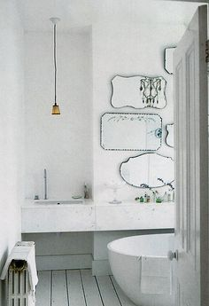 Via Petit Paper Mirror arrangement