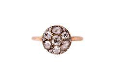 Annina Vogel Rose Cut and Old Cut Diamond Ring  via www.lucysaysido.com