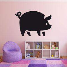"""lavagnetta decorativa da parete """"Piggy"""" scrivibile con gessetti, adesiva adatta a tutte le superfici sufficientemente lisce"""