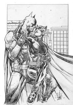 Batman and Catwoman, by Rahmat M. Handoko.