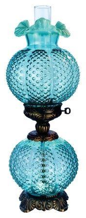 Fenton Glass Lamp