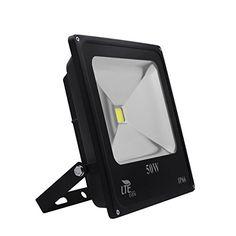 LTE 50W Super Bright Outdoor LED Flood Lights 3800 Lumen150W HPS Bulb Equivalent 6000K IP66 Waterproof Floodlight Security LightsDaylight White * Visit the image link more details.