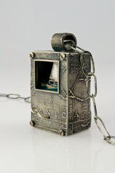 CUSTOM ORDER Wayfarer Talisman Necklace in sterling silver: A mechanical amulet