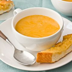 Bisque Recipe: Easy Lobster Bisque for Two Recipes from The Kitchn Food Network, Lobster Bisque Recipe, Soup Recipes, Cooking Recipes, Recipies, Sandwiches, Tasty, Yummy Food, Soup And Salad