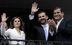 Calurosa despedida a los Príncipes de Asturias en Ecuador #royals #royalty #prince #princess #letizia