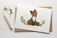 Thank You, Fox - Greeting Card of whimsy whimsical