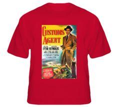 Customs Agent - Film Noir T Shirt