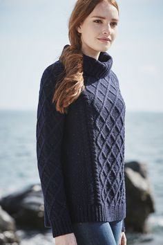 A cosy heritage knit. Made from soft lambswool, snug roll neck and chunky cable patterns. Inspired by fishermans jumpers. Perfect with Seasalt jeans.