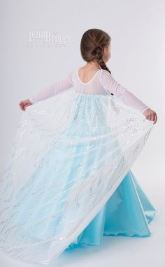 Congelados traje Elsa inspirado vestido 5 / 6 raso estilo