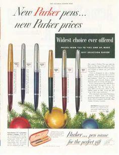 Parker Pen Writing Instruments 6 Models (1952)