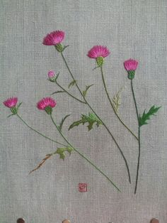 South Korea Wild Flower Embroidery