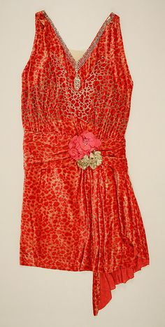 Worth Dress - c. 1926 - by House of Worth (French, 1858-1956) - Silk, rhinestones - @~ Mlle