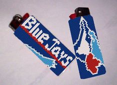 Looking for your next project? You're going to love Toronto Blue Jays Lighter Cover Pattern by designer Debby in Clearwater. - via @Craftsy