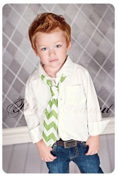 Little Guy Necktie Tie  CHEVRON Collection  2T 4T  by petitepeanut
