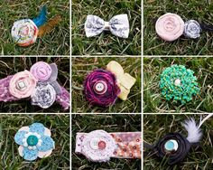 do a diy baby girl headband table that guests can personalize for your baby