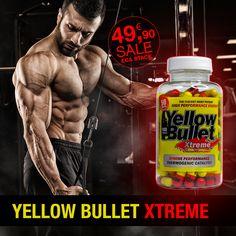Yellow Bullet Xtreme Hard Rock Supplements / ECA STACK! 100 Kapseln mit 50 mg Ephedra und 300 mg Koffein / 626 mg Proprietary Blend pro Kapsel!  MASSIV: Die STÄRKSTE DIÄTPILLE am Markt! Yellow Bullet Xtreme ist in den USA patentiert und wurde wissenschaftlich Untersucht worden. Die Fettverbrennungs Power der Yellow Bullet Xtreme wurde bestätigt! Hard Rock, Workout, Usa, Fatty Acid Metabolism, Work Out, Hard Rock Music, U.s. States, Exercises