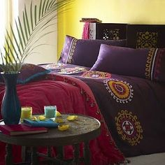 india themed master bedroom - optional cool color scheme. | master