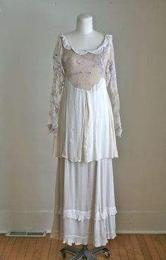 antique edwardian 1910s dress  FRENCH LAVENDER silk by MsTips, $448.00