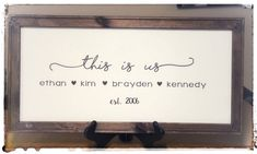 Excited to share this item from my shop: This Is Us - This Is Us Wood Sign - This Is Us Sign - Fixer Upper - Farmhouse Sign - Home Decor - Rustic Wood Panel Bathroom, Glass Bathroom Cabinet, Frosted Glass Door, Sliding Glass Door, Rustic Bathtubs, Built In Bathtub, Shower Box, Trendy Home Decor, Glass Boxes