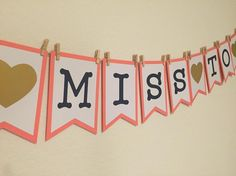 From Miss to Mrs banner     #partybanners #partydecoration #partyplanning #diy…