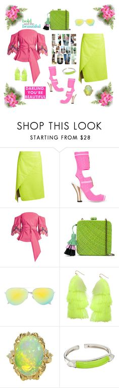 """""""Bold and beautiful"""" by zabead ❤ liked on Polyvore featuring Sies Marjan, Fendi, Peter Pilotto, Serpui, Victoria Beckham, Humble Chic and Alexis Bittar"""