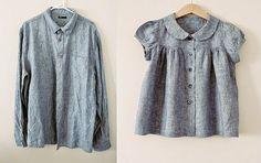 maker*land: Men's shirt refashion.