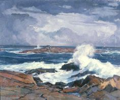 """""""Straitsmouth, Cape Ann,"""" Stanley Wingate Woodward, oil on canvas, 25 x 30"""", Maier Museum of Art at Randolph-Macon Woman's College."""
