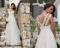 A kesim omuz dantelli ve askılı gelinlik modelleri 2016-a kesim gelinlik modelleri 2016-nova bella gelinlik nişantaşı istanbul