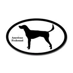 American Foxhound Silhouette Decal.  Perhaps for the Jeep.