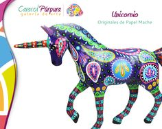 When you see a purple unicorn the rainbow colored pegasus has to be nearby. Paper Mache Sculpture, Pottery Sculpture, Hispanic Heritage, English Artists, Antony Gormley, Body Drawing, Mexican Folk Art, Aboriginal Art, Color Theory