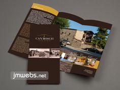 Folletos y Trípticos para Casas de Turismo Rural. Diseño gráfico personalizado, impresión y envío a domicilio incluido. Precios en www.jmwebs.net o Teléfono 935160047
