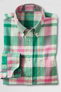 Men's Regular Long Sleeve Jupiter Multi Plaid Madras Shirt - LL Bean